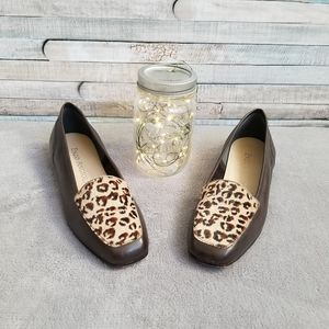 Enzo Angiolini Calf Hair Animal Print Flats